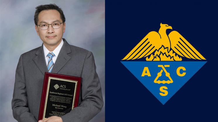 Wong receives 2019 Southwest Region American Chemical ...