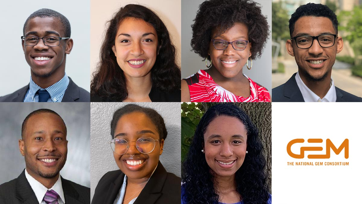 Seven students, alumni named 2020 Fellows of the National GEM Consortium